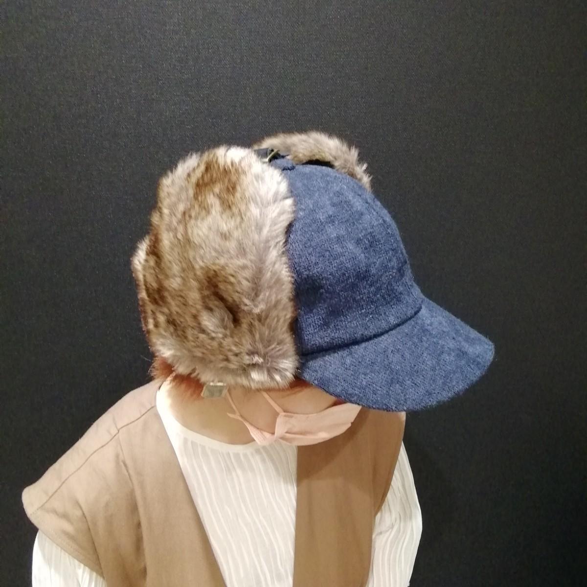 ♡大人気ニット生地ファー付きキャップ♡