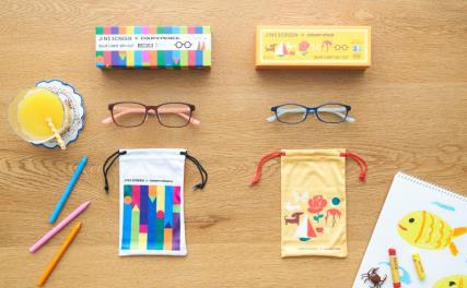 おこさま用の眼鏡に、JINS SCREEN×サクラクレパス 発売中!