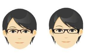 『顔型別似合うメガネの選び方②丸顔編』