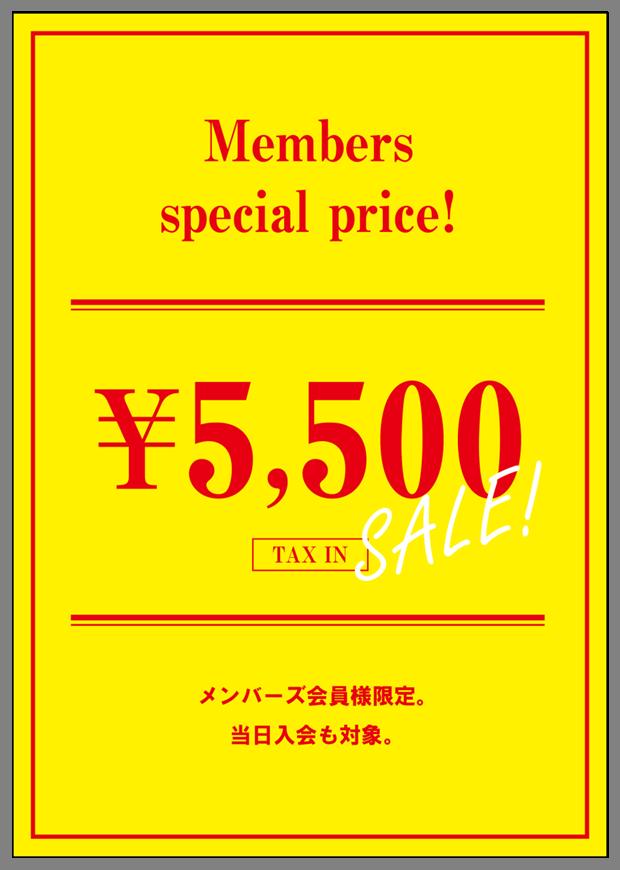 ★ 5,500円(税込)キャンペーン ★